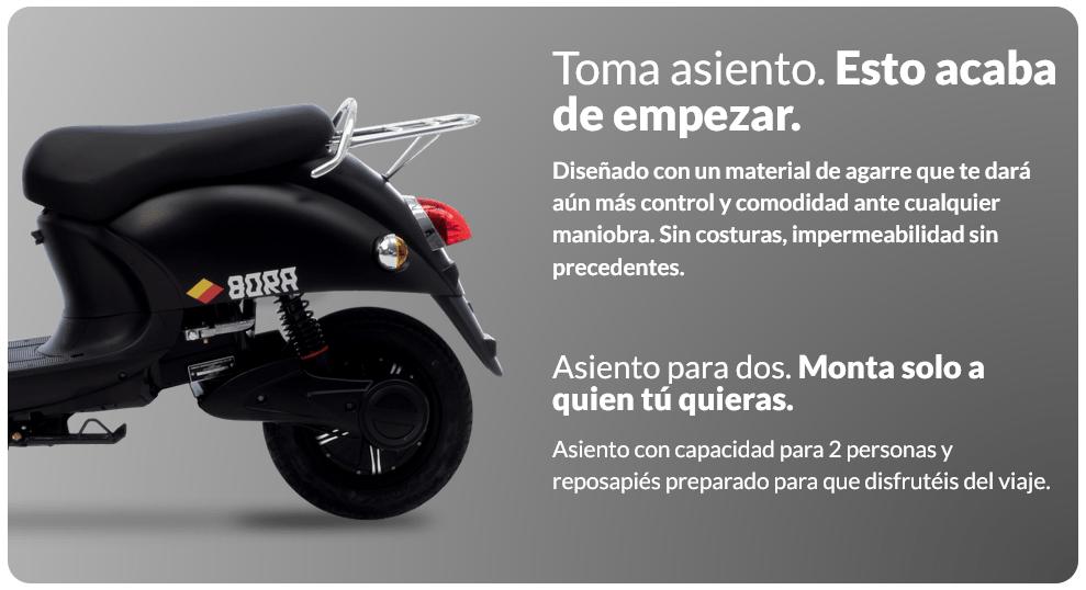 ciclomotor electrico homologado para 2 personas
