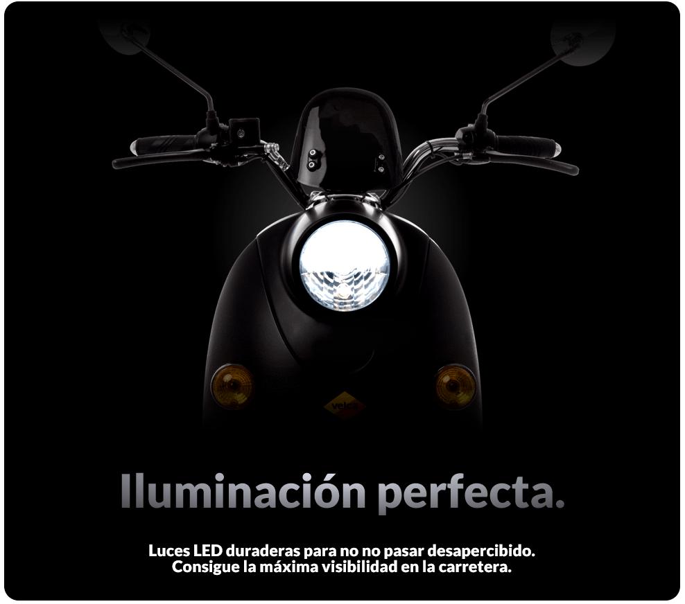 ciclomotor electrico iluminacion led